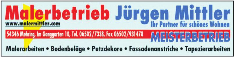 Malerbetrieb Jürgen Mittler