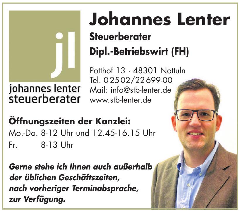 Johannes Lenter Steuerberater Dipl.-Betriebswirt (FH)