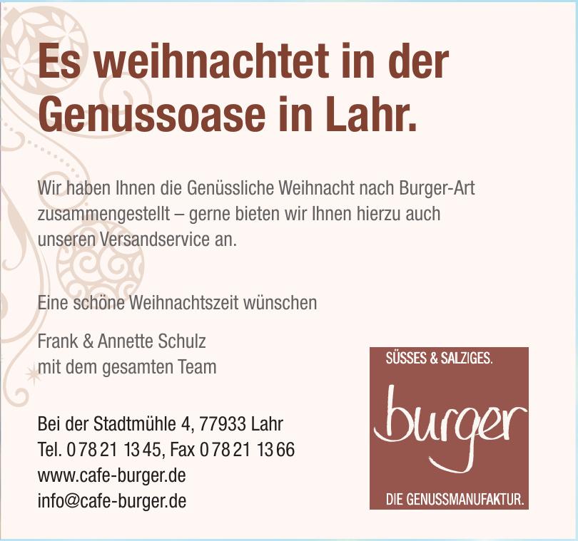 Café Burger – Die Genussmanufaktur