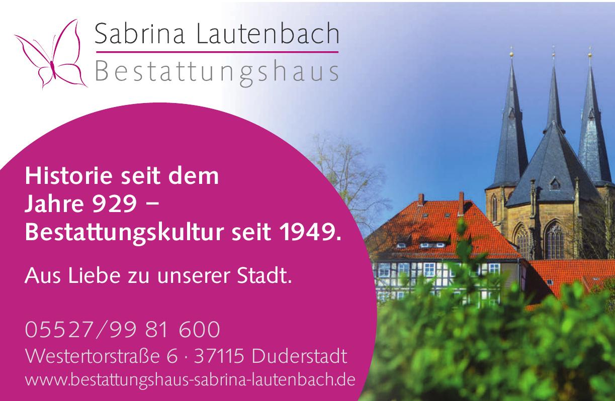 Sabrina Lautenbach Bestattungshaus