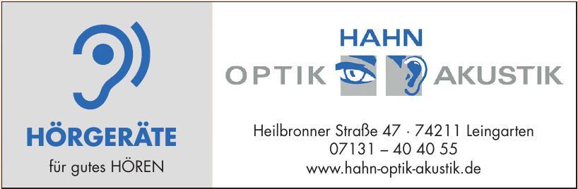 Hahn Optik Akustik
