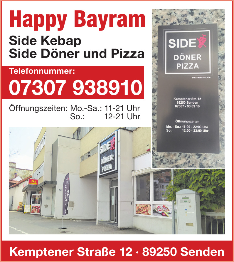Side Döner und Pizza