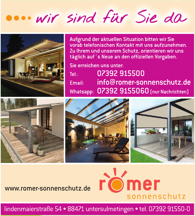 Romer Sonnenschutz