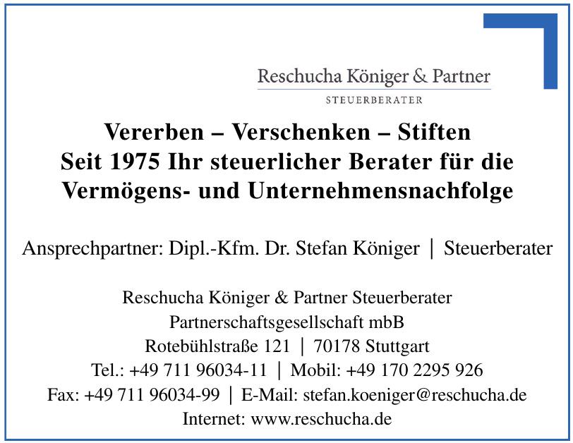 Reschucha Königer & Partner Steuerberater Partnerschaftsgesellschaft mbB