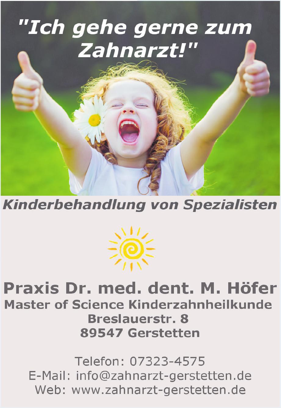 Praxis Dr. med. dent. M. Höfer