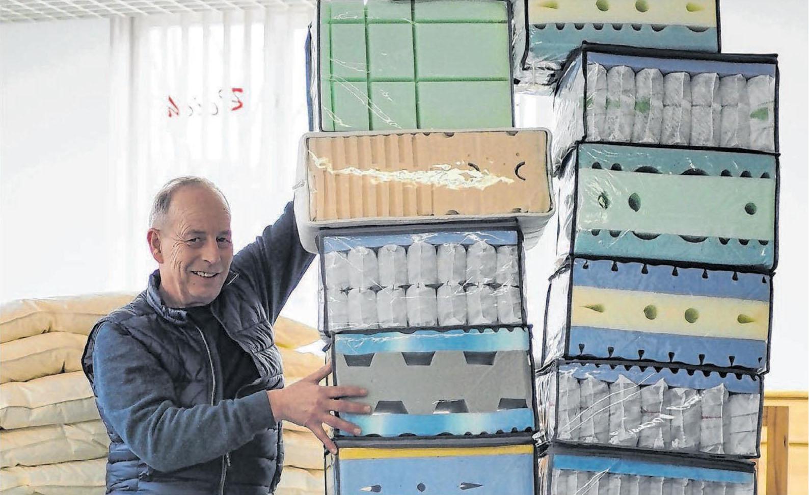 Betten Reich ist ein Geschäft mit Tradition und wird in dritter Generation von Hans-Ulrich Reich geführt. Die modernen Schlafsysteme wurden im Haus selbst entwickelt. Foto: Nadine Wilmanns