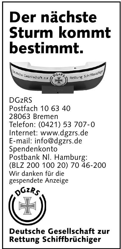 DGzRS Deutsche Gesellschaft zur Rettung Schiffbrüchiger