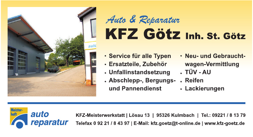 KFZ Götz Inh. St. Götz