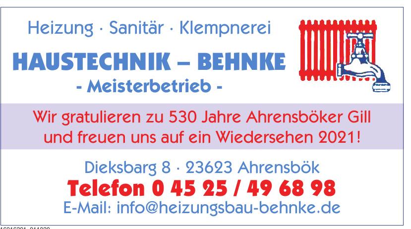 Haustechnik Behnke Meisterbetrieb