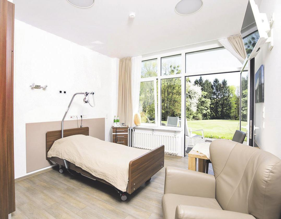 Die Einrichtung der Zimmer ist modern, der Garten direkt zugänglich Bild: Büge