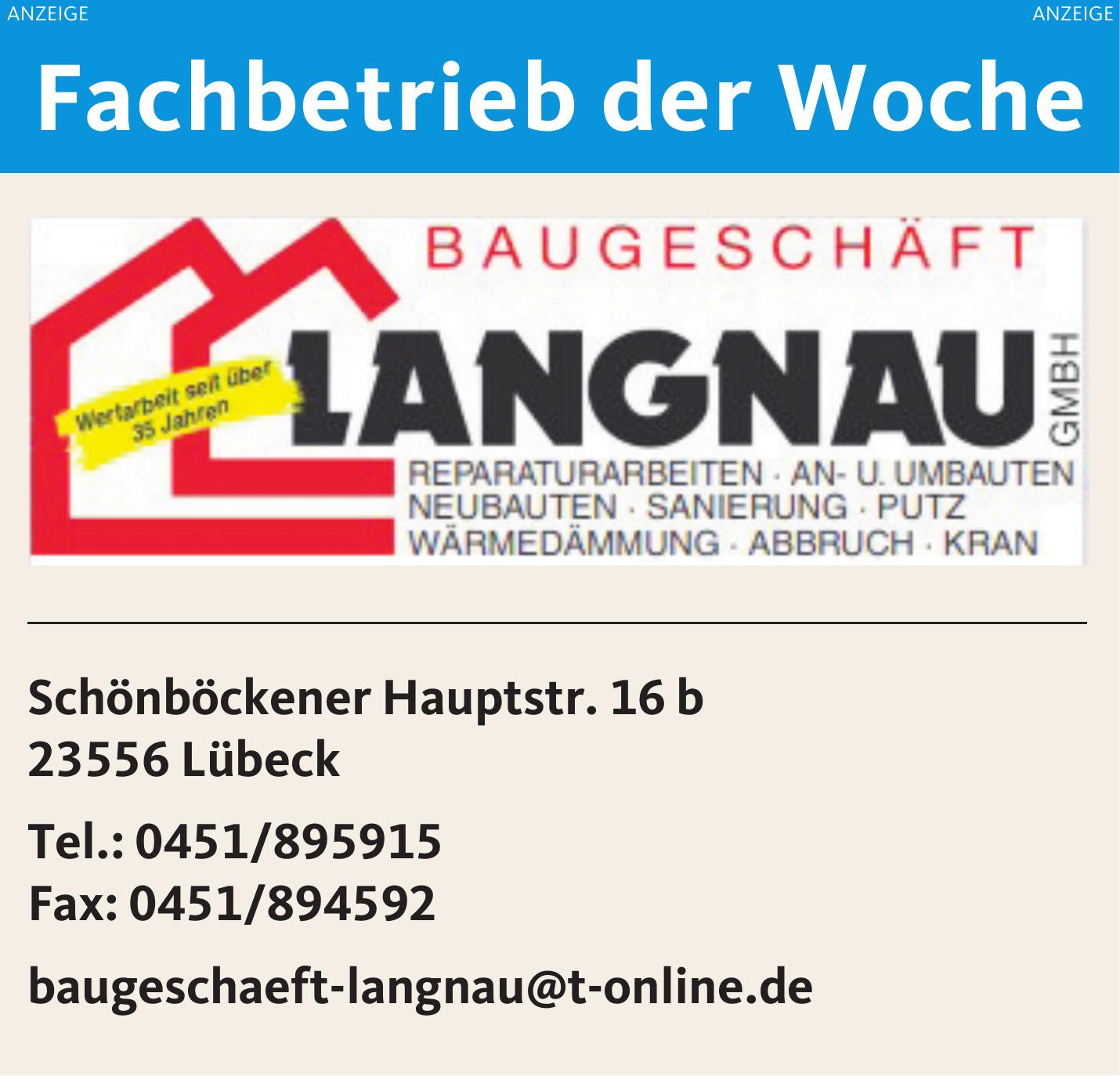 Baugeschäft Langnau GmbH