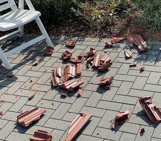 Stürme können erhebliche Schäden an Gebäuden hinterlassen. Bild: HLC/Friedrich Ossenberg-Schule