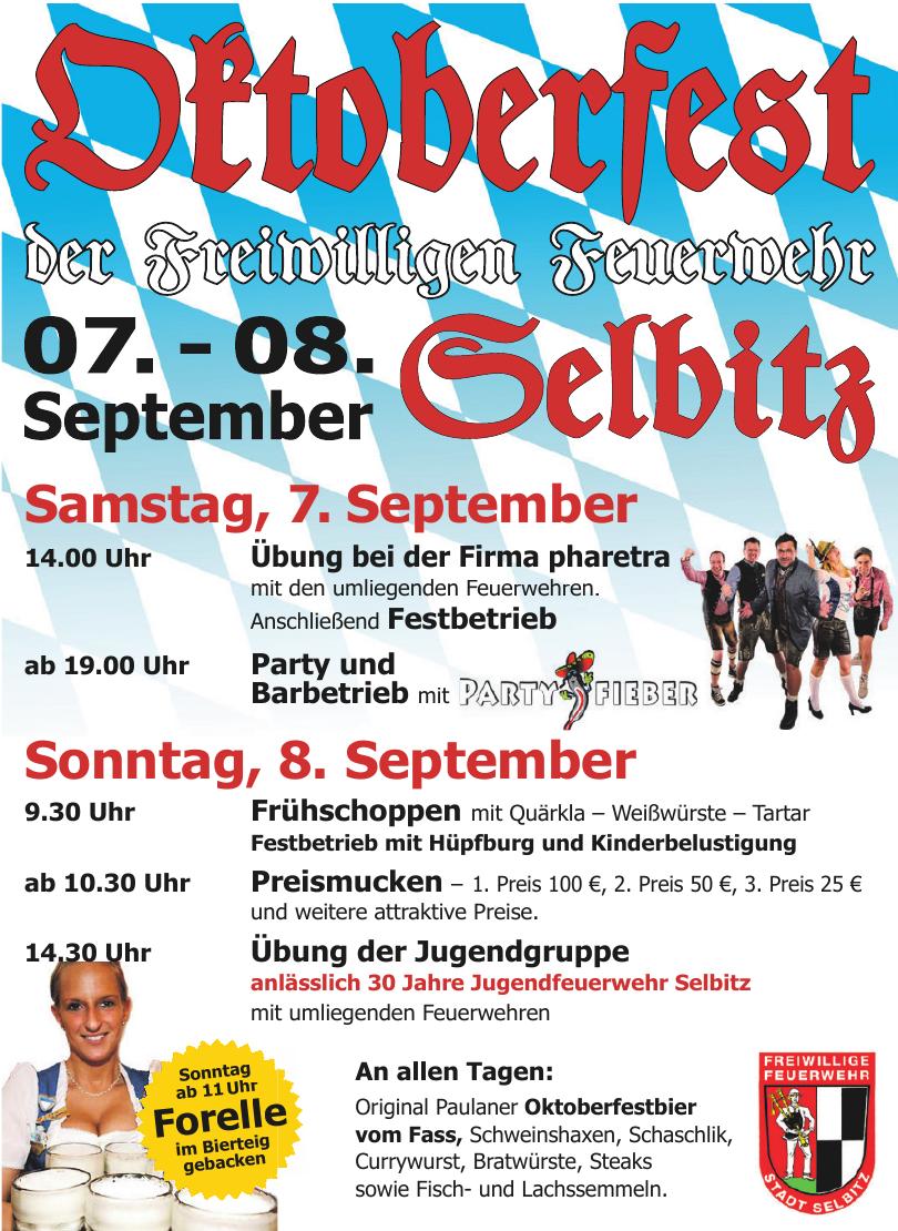Oktoberfest der Freiwilligen Feuerwehr Selbitz