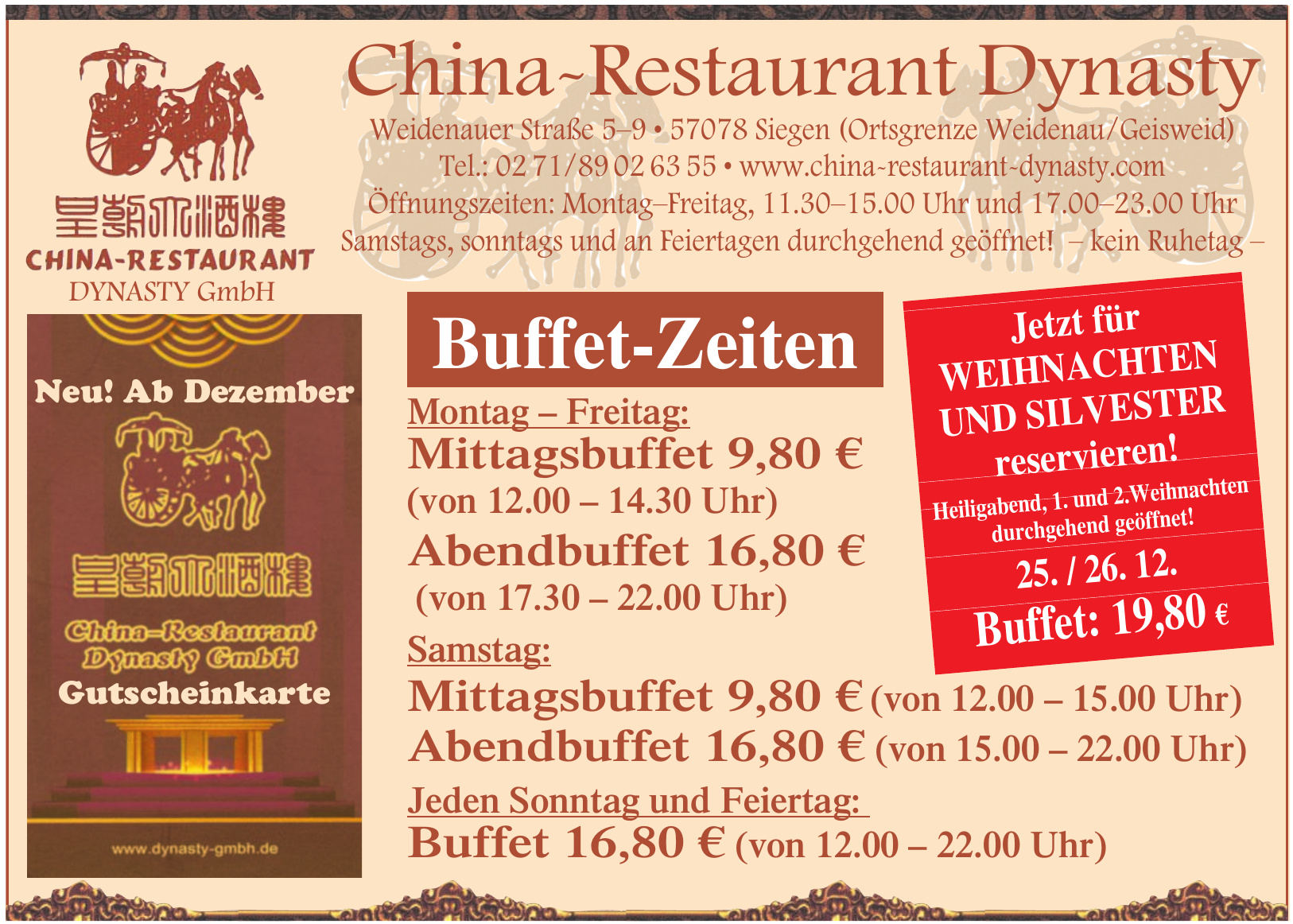 China Restaurant Dynasty