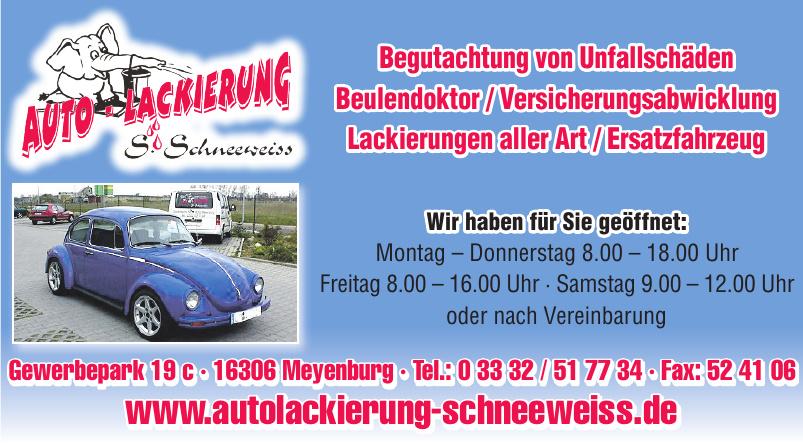 Autolackierung Siegfried Schneeweiss