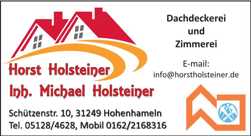 Dachdeckerei und Zimmerei Horst Holsteiner