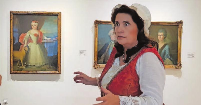 Kammerzofe Henrietta erzählt bei ihren Stadtführungen spannende Ereignisse aus Zeiten Fürst Ludwigs. Foto: CiMaSB_U. vonSteht