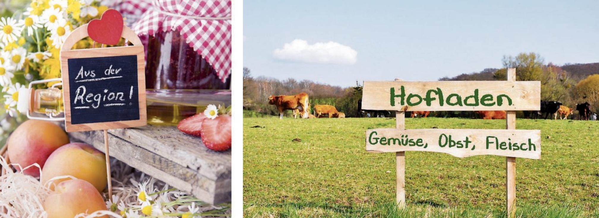 Immer mehr Verbraucherinnen und Verbraucher bevorzugen das frische und saisonale Angebot in den Hofläden oder bei Direktvermarktern. Bilder: Sonja Birkelbach/stock.adobe.com (oben), Marco2811/stock.adobe.com