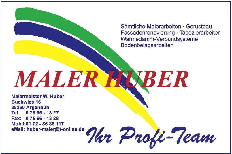 Malermeister W. Huber