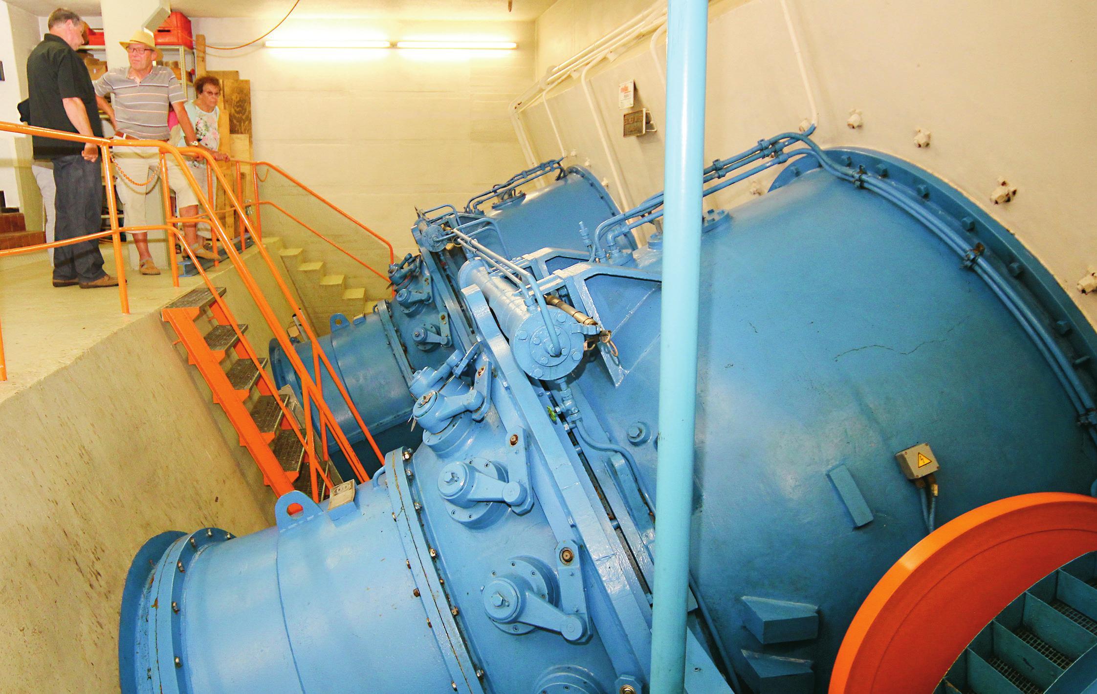 Ein Blick ins Innere des Flusskraftwerks