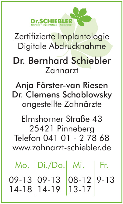 Dr. Bernhard Schiebler Zahnarzt