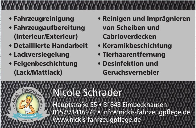 Nicole Schrader Fahrzeugpflege