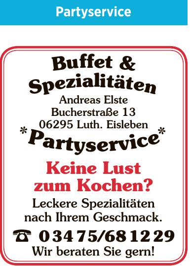 Buffet & Spezialitäten Andreas Elste
