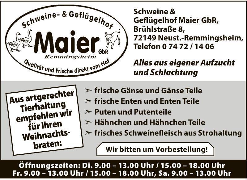 Schweine & Geflügelhof Maier GbR