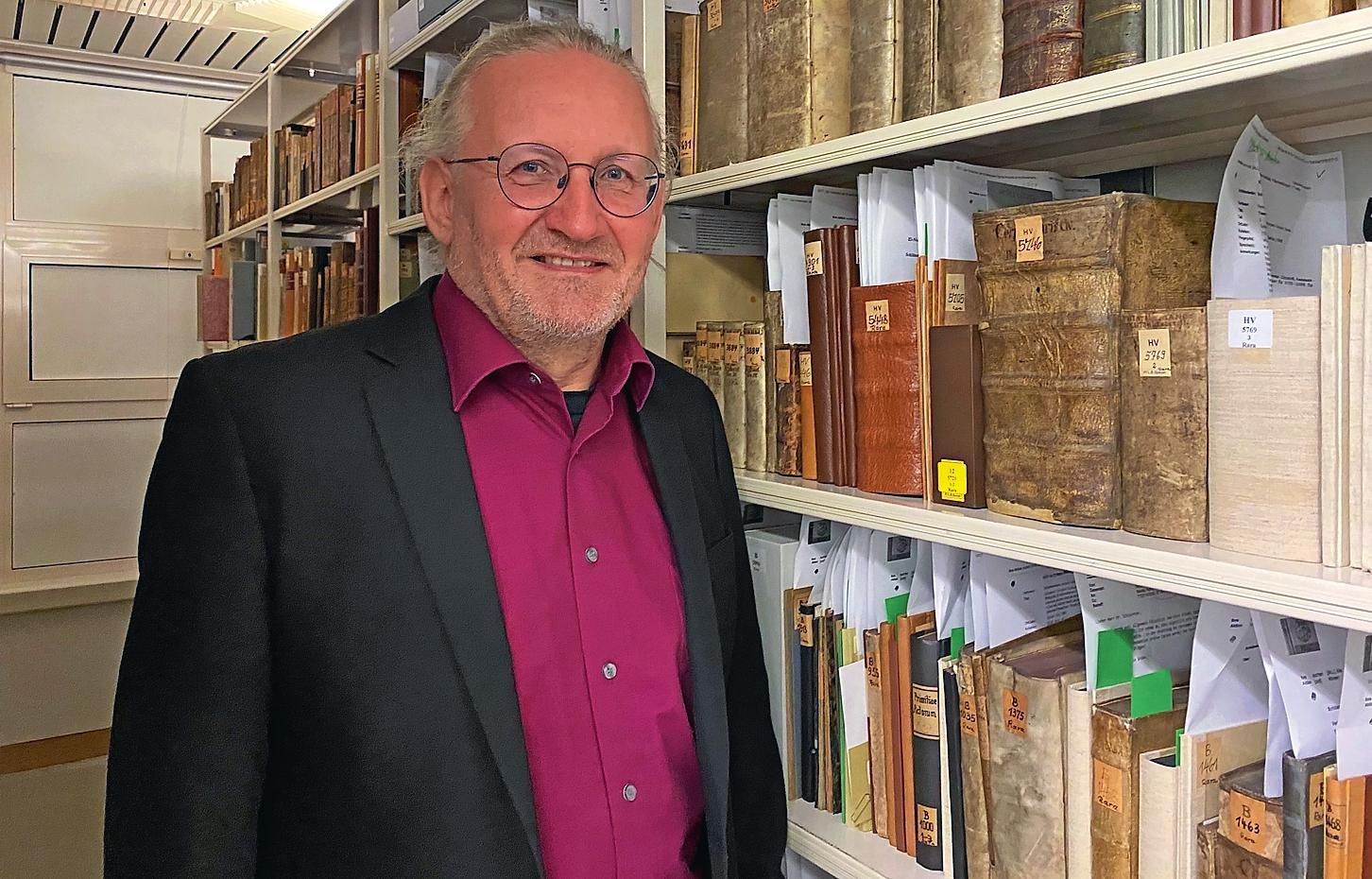 Armin Schlechter ist seit 2016 Vorsitzender der Bezirksgruppe Speyer des Historischen Vereins der Pfalz. FOTO: NARIN UGRASANER