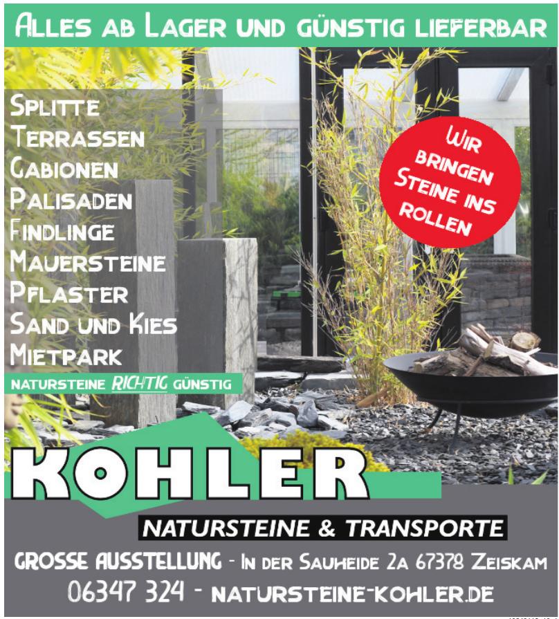 Kohler Natursteine und Transporte