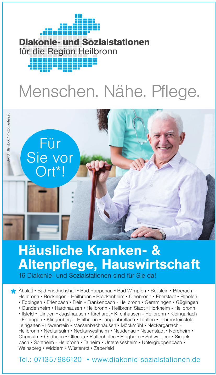 Diakonie- und Sozialstationen für die Region Heilbronn