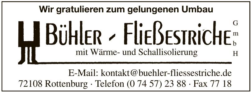 Bühler Fleißestriche GmbH