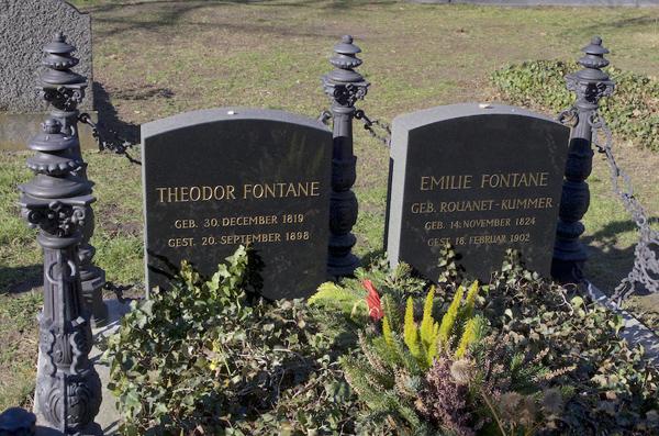 Grab Fontanes und seiner Frau Emilie auf dem Französischen Friedhof an der Liesenstraße, 2019.