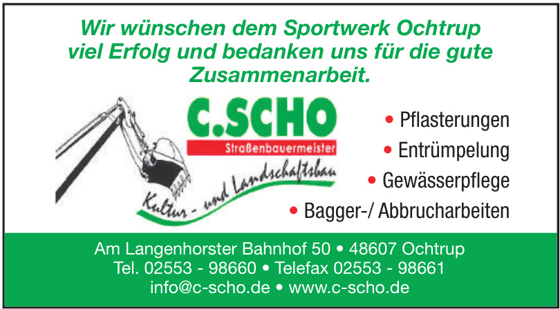 C. Scho Straßebauermeister