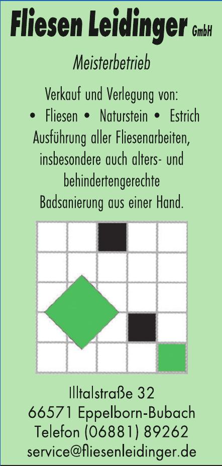 Meisterbetrieb Fliesen Leidinger GmbH