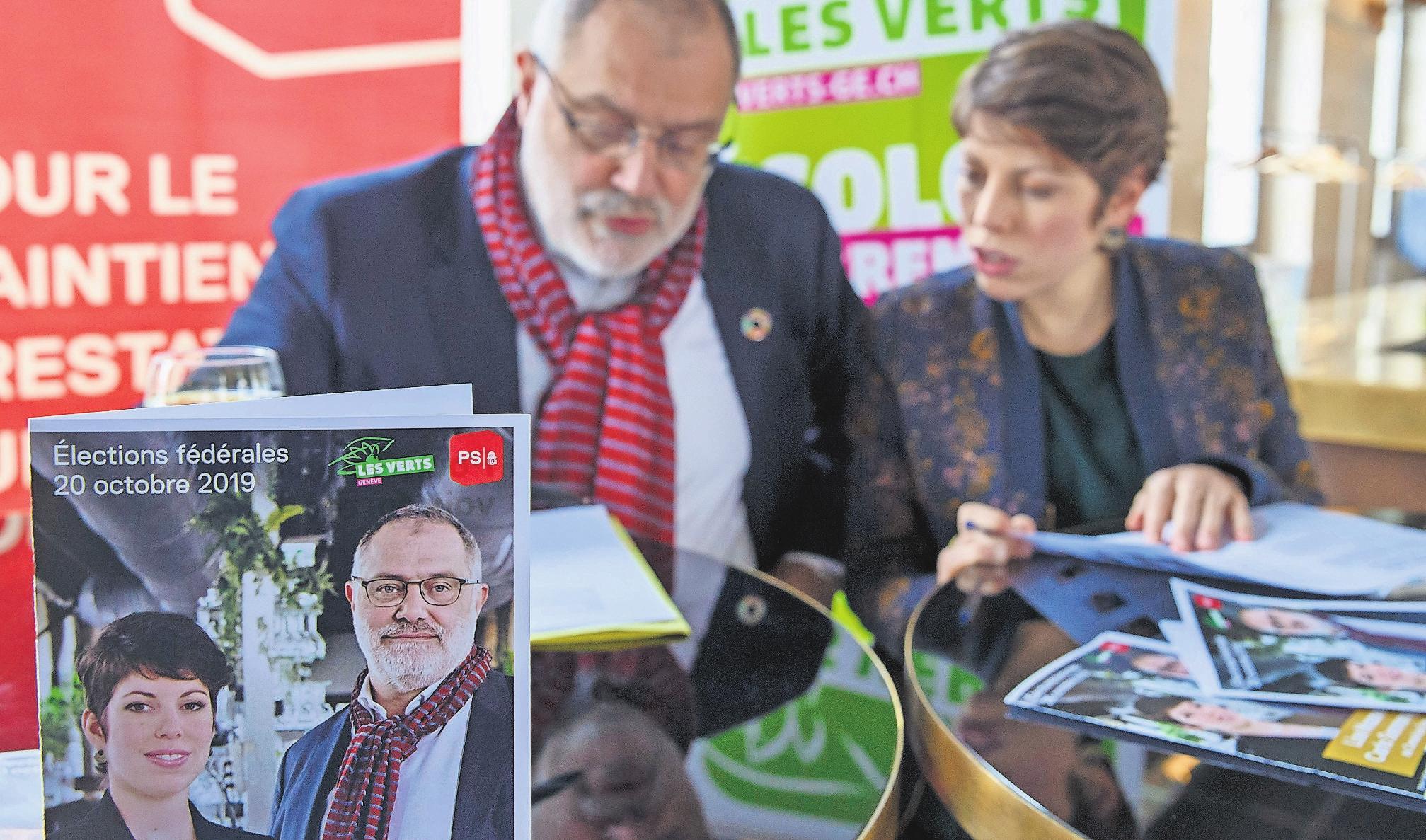 Lisa Mazzone (Grüne) und Carlo Sommaruga (SP) wollen in den Ständerat. Bild: Key