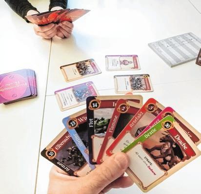Wenn's regnet: ein Kartenspiel ist immer eine Option.