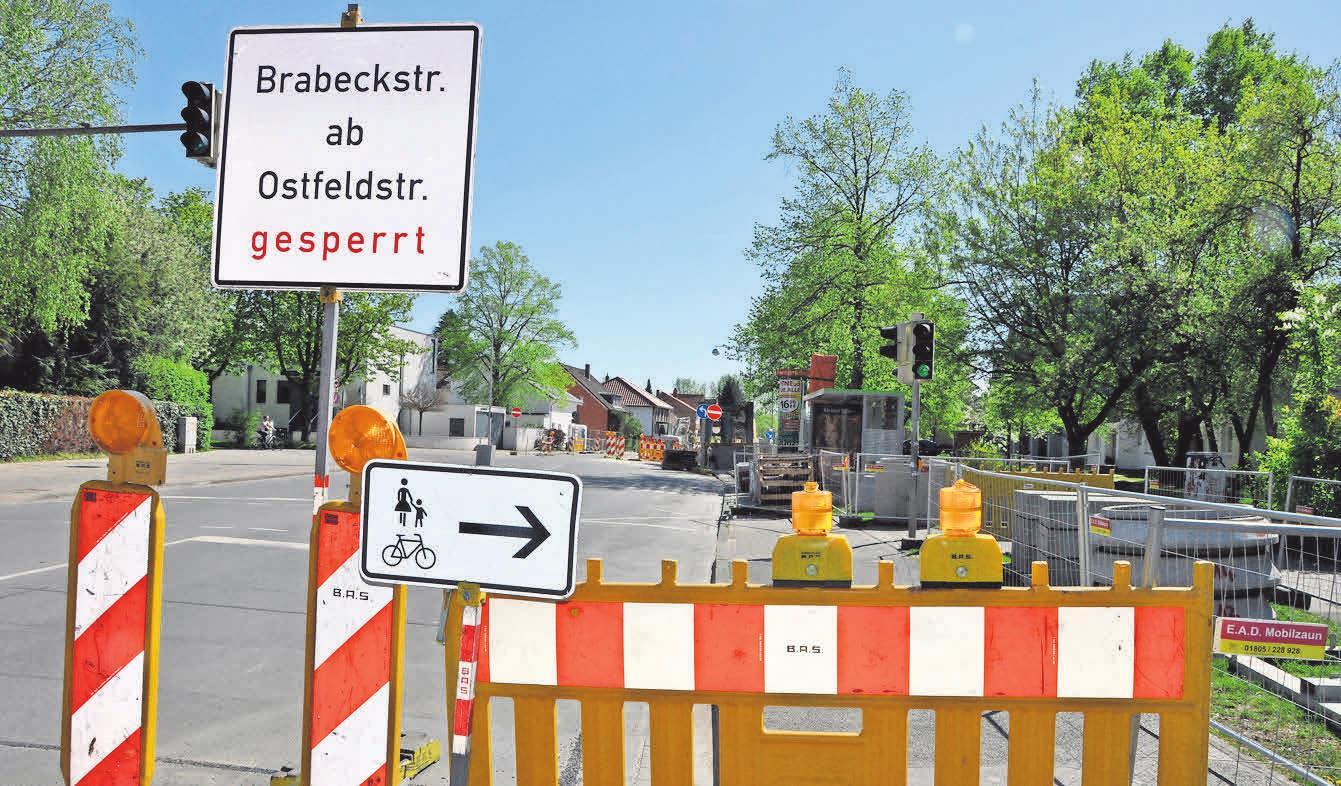 Die Bauarbeiten verlangen den Kirchrödern und Besuchern des schönen Stadtteils derzeit viel Geduld ab.