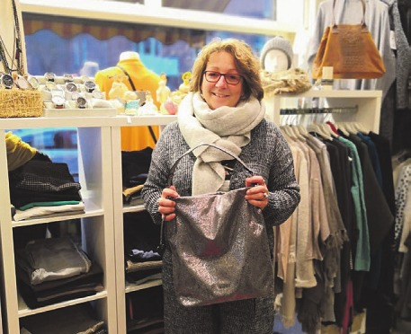 Anke Harder in ihrer lütten Boutique