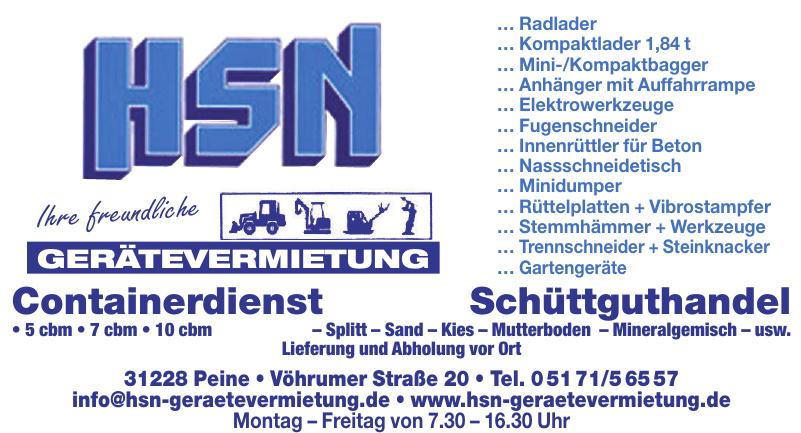 HSN Gerätevermietung GmbH