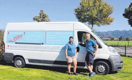 Bekannt ist der große Van in ganz Isny und Umgebung.