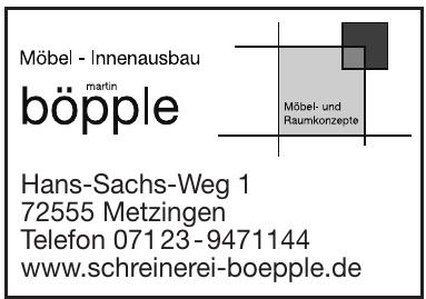 Schreinerei Martin Böpple