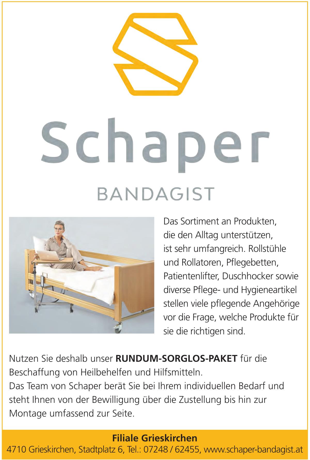 Schaper Bandagist - Filiale Grieskirchen