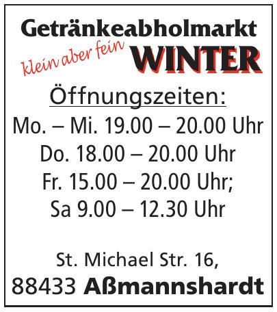 Getränkeabholmarkt Winter