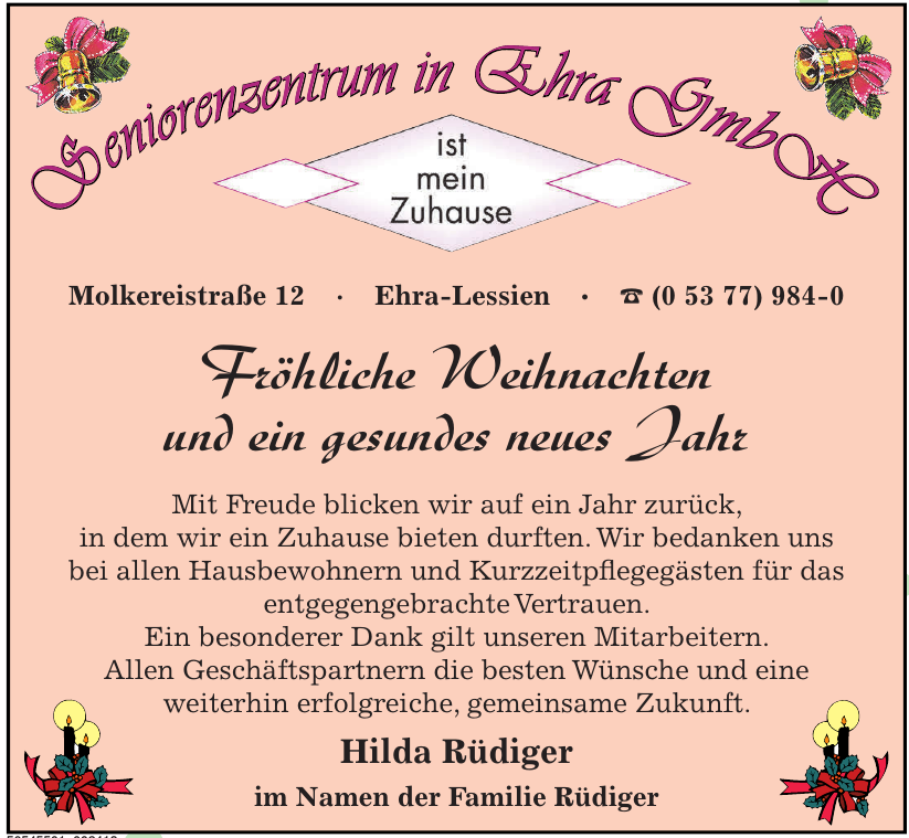 Seniorenzentrum  in Ehra GmbH