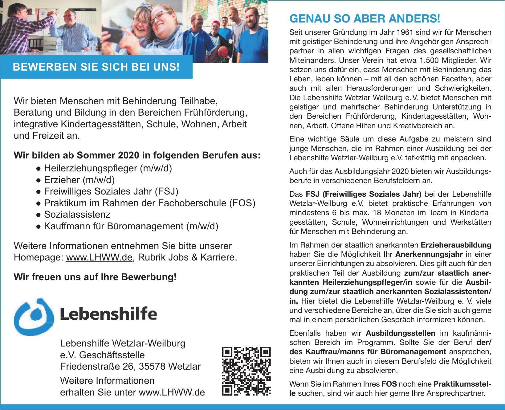 Lebenshilfe Wetzlar-Weilburg e.V.