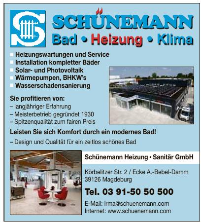 Schünemann Heizung – Sanitär GmbH