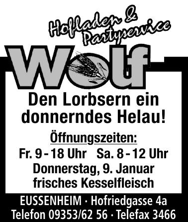 Wolf Hofladen & Partyservice
