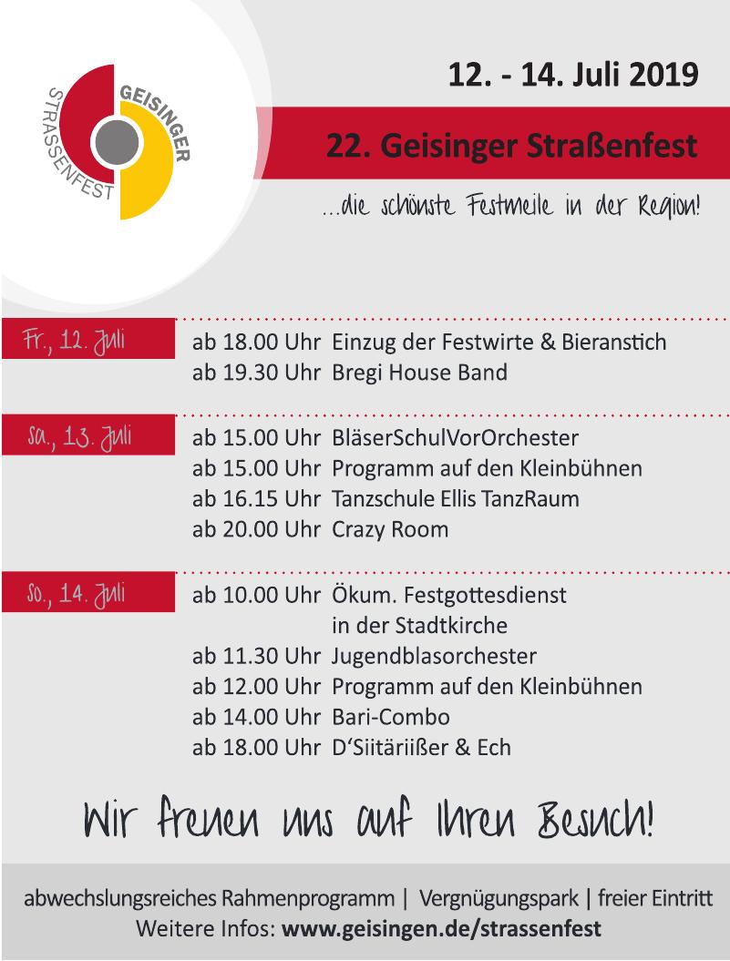 22. Geisinger Strassenfest