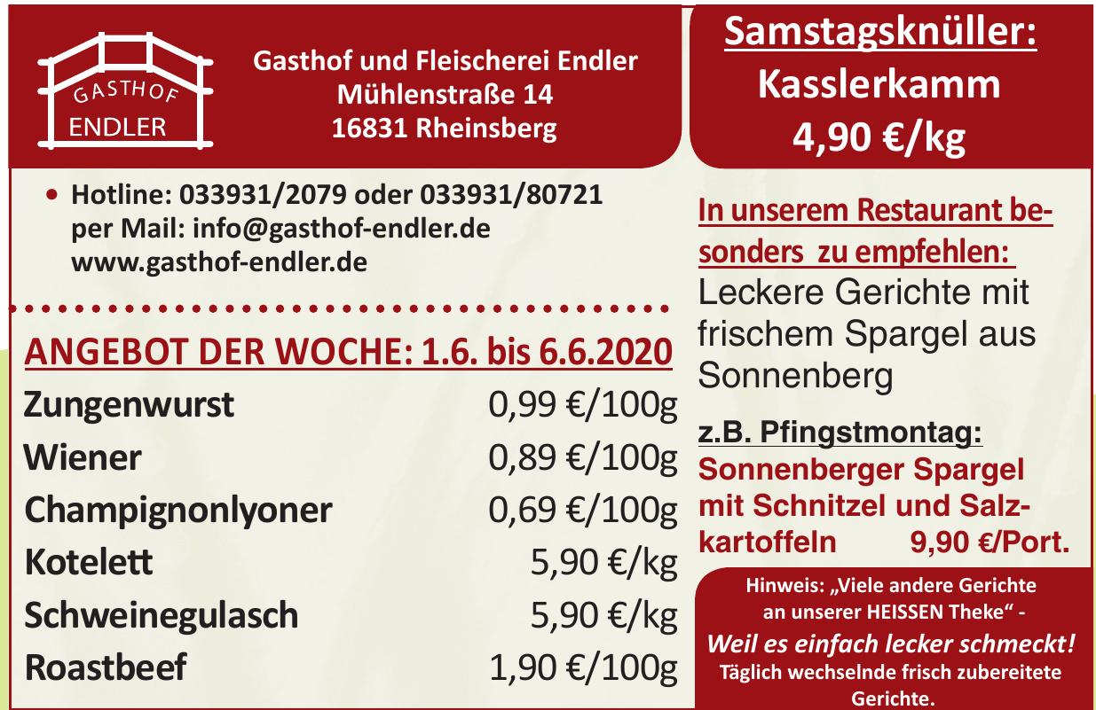 Gasthof und Fleischerei Endler